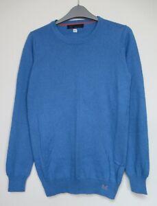 Details about New womens Crew Clothing Blue Cotton Cashmere Jumper Size XS M