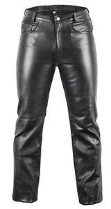 Lederjeans-Bikerjeans-Lederhose-in-schwarz-Motorrad-Biker-Jeans-Lederhose