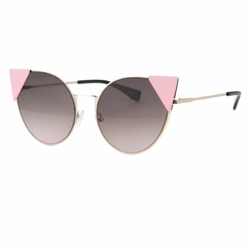 Large Oversized Cat Eye Sunglasses Metal Frame Color Lens Women Fashion