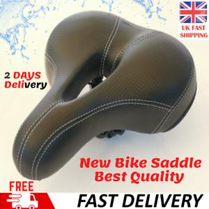 Universal Big Wide Comfy Cushioned Bicycle Gel Bike Saddle Seat Soft Padded