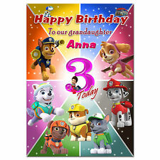 Item 4 713 Personalised Greeting Card PAW Patrol Special Great Best Big Little