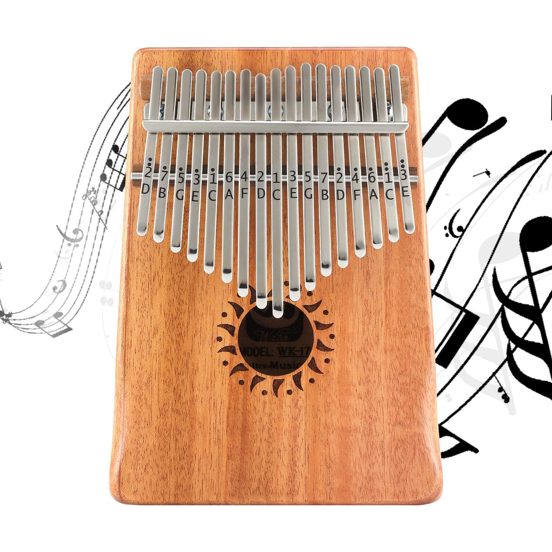 Donner DKL-17 17 Key Kalimba Thumb Piano Solid Mahogany Body ON SALE 2