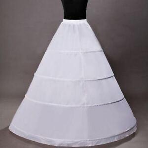 Jupe En Crinoline Neuf 4 Anneaux Blanc Robe De Mariée Jupon Jupon Robe De Mariée