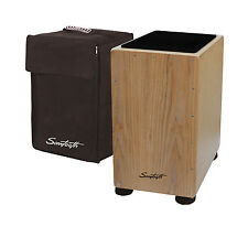 Sawtooth Maple Back and Sides Ash Wood Cajon with Seat Pad and Carry Bag