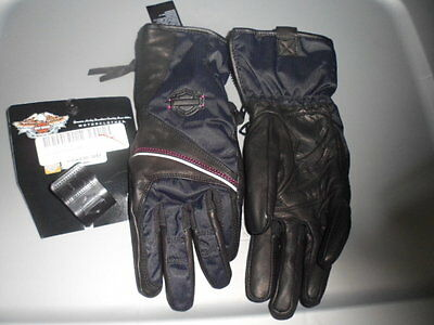 NOS Harley Davidson Womens Velocity RCS Waterproof Textile Gloves 97346-13VW