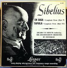 Van Beinum - En Saga & Tapiola Symphonic Poem LP VG+ LL.737 UK FFrr 1A/1A