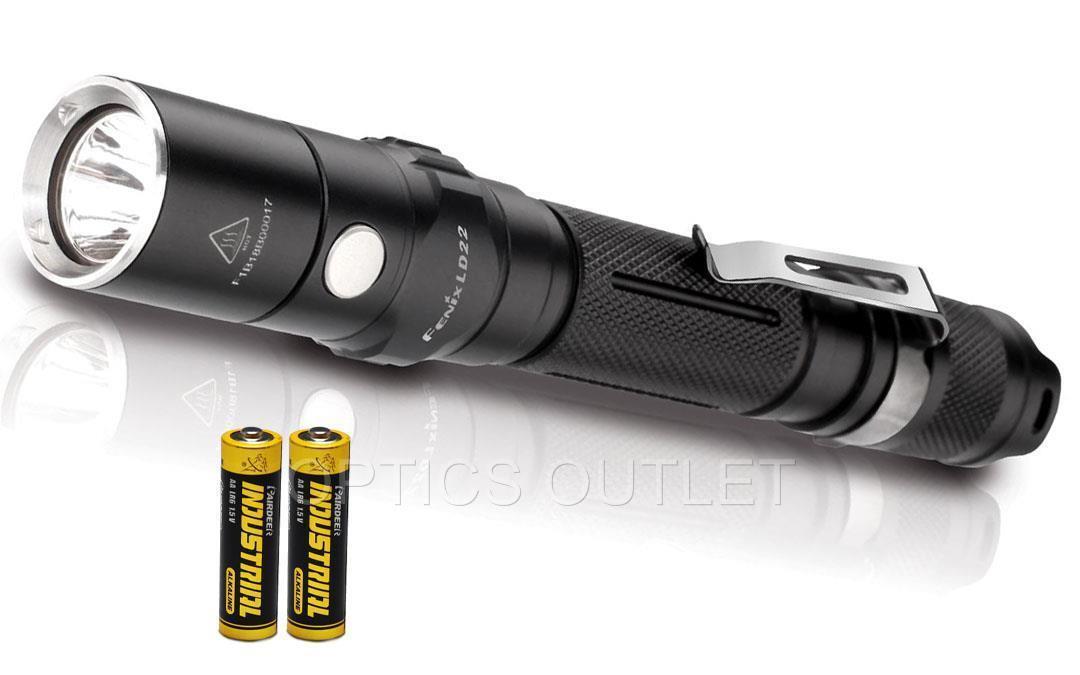 Fenix LD22 2015  Ed. 131 yard 300 Lumen LED Flashlight Includes 2 AA Batteries  the most fashionable