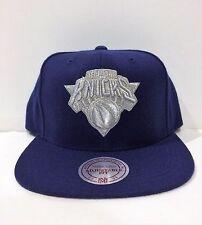 Mitchell &NESS NEW YORK Knicks snapback Adjustable HAT/CAP NAVY METALLIC SILVER