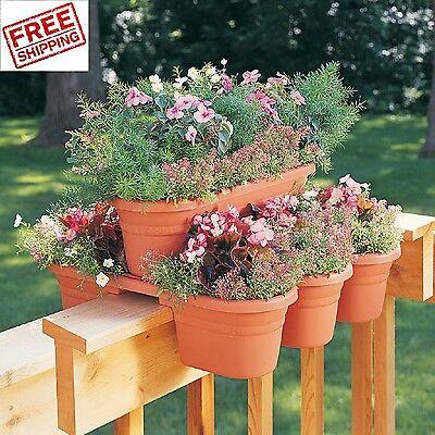 Deck Railing Flower Pots Planter Plant