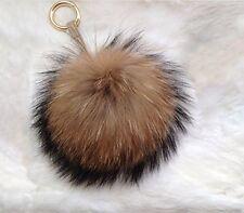 "Corile 6"" Large Fur Pom Pom Puff Ball Car Keyring/Bag Purse Charm Soft"