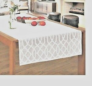 New-Jacquard-Table-Runner-White-Shabby-Chic-Vintage-Country-24-034-x-55-034