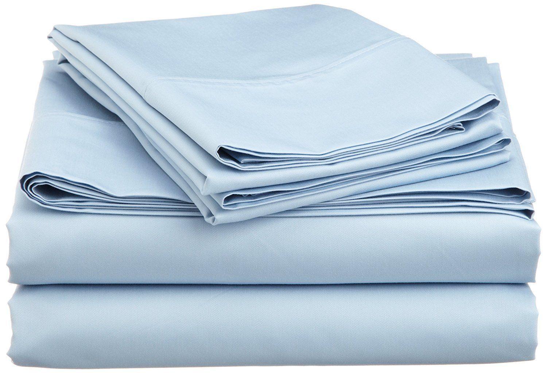 Light Blau Solid Bed Sheet Set All Extra Deep Pkt & Größes 1000TC Egyptian Cotton