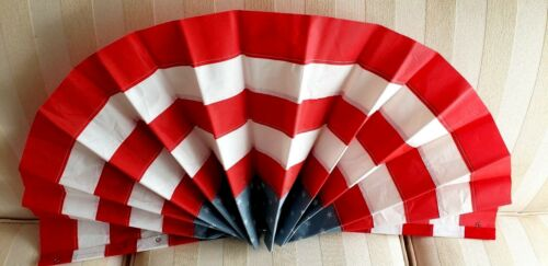 "Buntings Patriotic US Flag Stars Stripes Red White Blue Decor 15/"" x 30/"" Clip New"