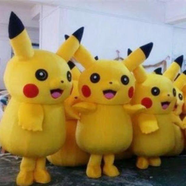 Brand New Pikachu Adult Mascot Costume Halloween Party Pokemon Go Cosplay game
