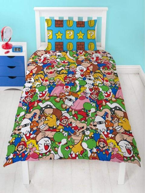 Super Mario Gang Single Duvet Cover Quilt Cover Bedding Set Childrens Kids
