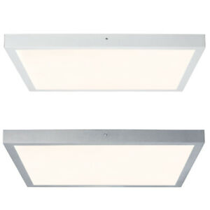 Paulmann-Deckenleuchte-Lunar-LED-Panel-Eckig-Aufbau-Alu-Warmweiss-Deckenlampe