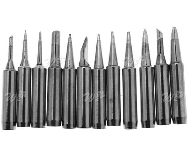 12 Pcs Solder Screwdriver Soldering Iron Tips Replacement 900M-T Tool 4mm Tip