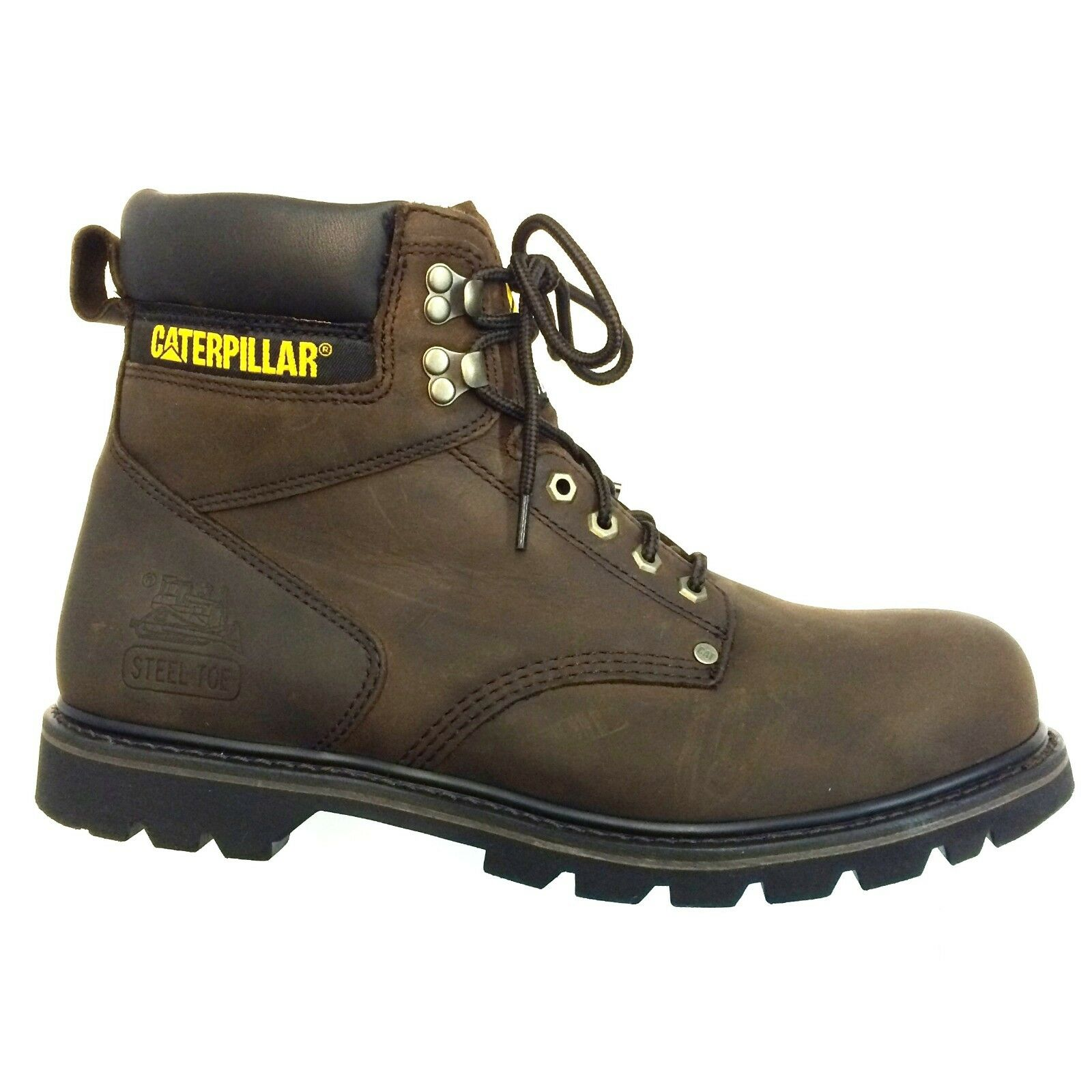 Men's Caterpillar, SECOND SHIFT, Steel Toe, Work Boot Brown, P89586