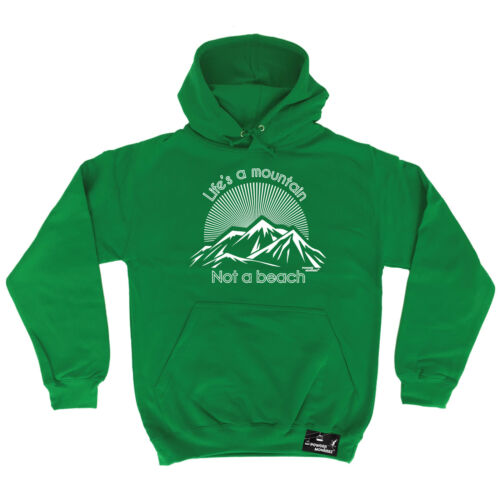 Lifes A Mountain Not A Beach Powder Monkeez HOODIE hoody birthday ski skiing