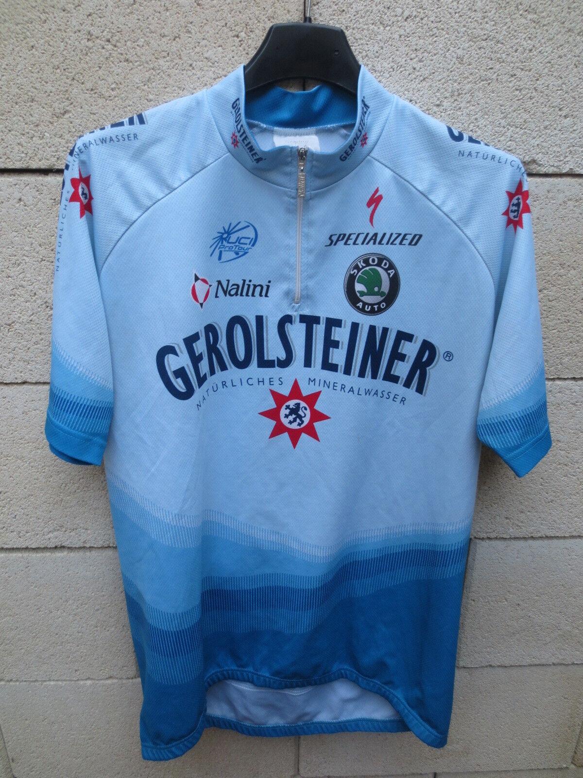 Maillot cycliste GEROLSTEINER UCI PRO TOUR 2005 Nalini trikot TOTSCHNIG Geor 4 L