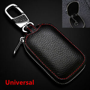 Latest-Genuine-Leather-Car-Key-Cover-Holder-Key-Fob-Case-Bag-Universal-For-Cars
