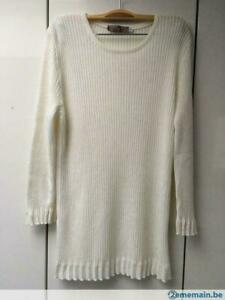 Pull-Blanc-Casse-Taille-M-MP