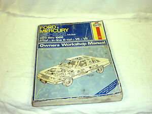 1975-1986 Ford Mid-size Models Haynes Automobile Repair ...