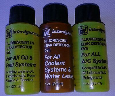 UV Dyes - Find Leaks Quickly & Easily Dyes for Oil,Fuel,Water & Air Conditioning