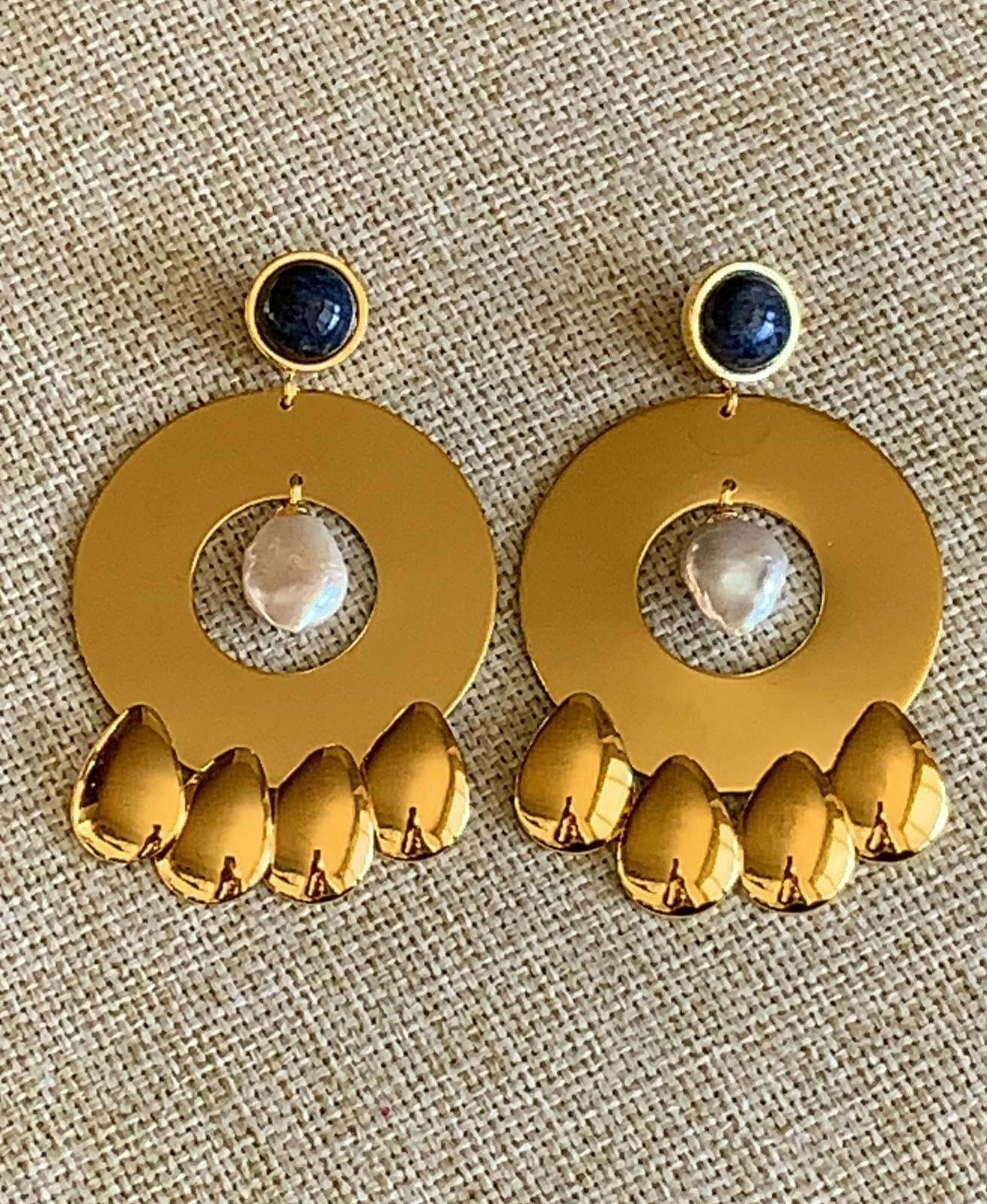 Lizzie Fortunato golden Hour Earrings, gold Pearl, One size