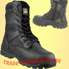 0ea8d3e752c Amblers Fs008 Unisex Safety BOOTS Steel Toe Cap Side Zip Police Army ...