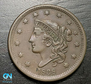 1838-Coronet-Head-Large-Cent-MAKE-US-AN-OFFER-B6290