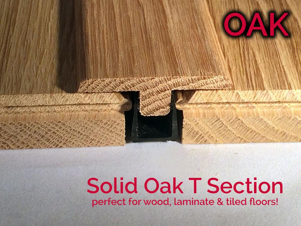 Real Solid Oak T Section For Wood Floor, Hardwood Flooring Threshold Transition