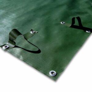Couverture d'hiver conçu pour tubes, avec bandes - pour piscine 6 x 15 m