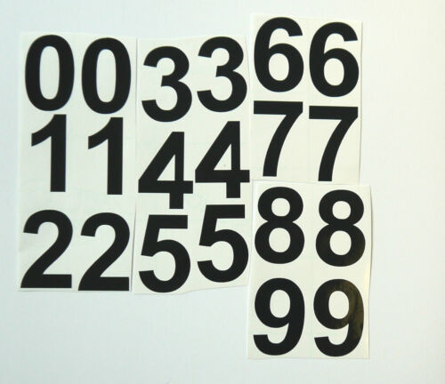 """20 Sticky Vinyl Numbers Filing Signs 3/"""" High Asst/'d Colours. Menus Crafts"""
