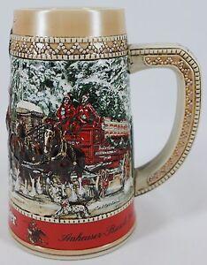 Anheuser-Busch-Budweiser-Stein-1987-Collector-039-s-Series-034-C-034-Series