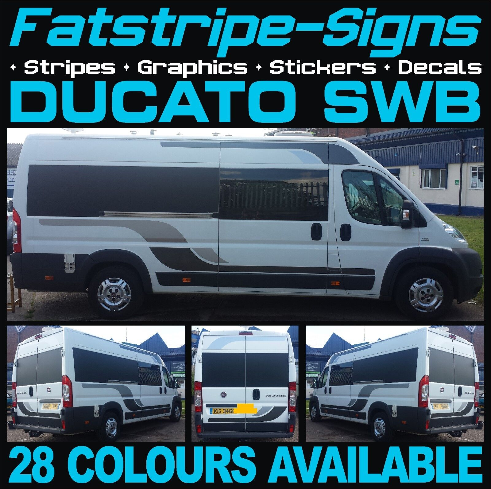 Fiat ducato swb l1 motorhome vinyl graphics stickers decals stripes camper van for sale online ebay
