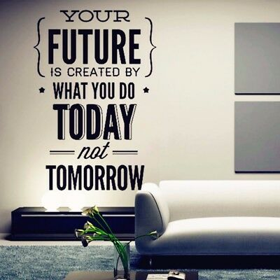 Room Wallpaper Inspirational Quotes Wall Sticker Office