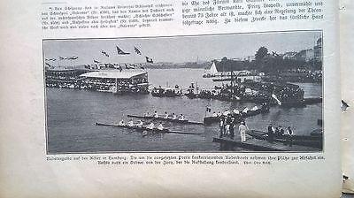 1905 29 Westerland Rudern Hamburg Alster Gotha