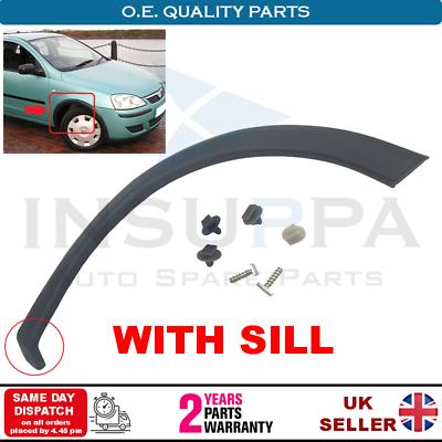 01-03 Modèle Genuine Vauxhall R//H FRONT WHEEL ARCH TRIM 9227304 pour Corsa C