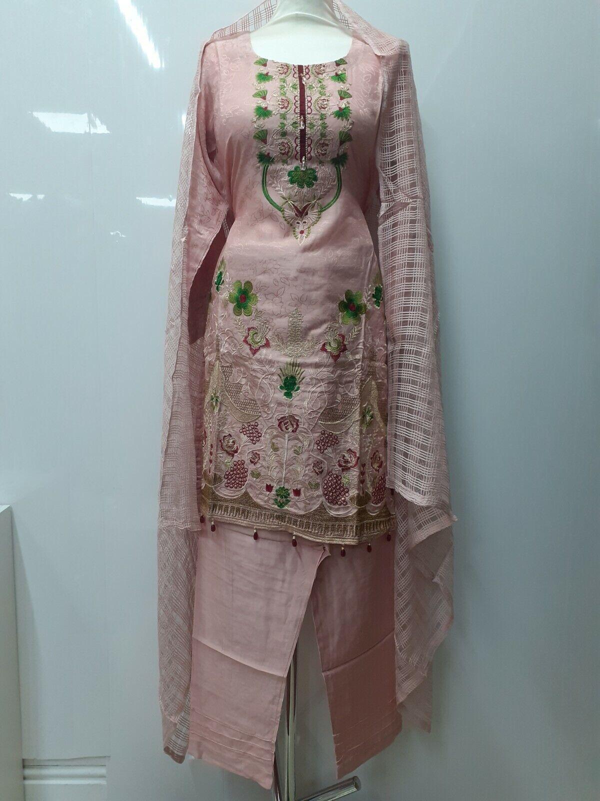 pakistani viscose party wear 3 pcs suit stitched