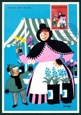 Maxi Cards Niederlande Mk 1967 Voor Het Kind Maximumkarte Carte Maximum Card Mc Cm Ed69