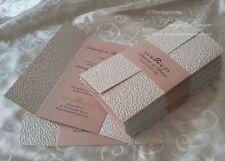 Gate fold Invitation 1X SAMPLE - wedding birthday handmade cards, paper invites