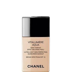 chanel vitalumiere aqua spf 15 ultra light skin perfecting makeup 42 beige rose. Black Bedroom Furniture Sets. Home Design Ideas