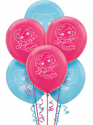 LALALOOPSY PARTY SUPPLIES LATEX BALLOONS PACK OF 6 HELIUM QUALITY 12 INCH