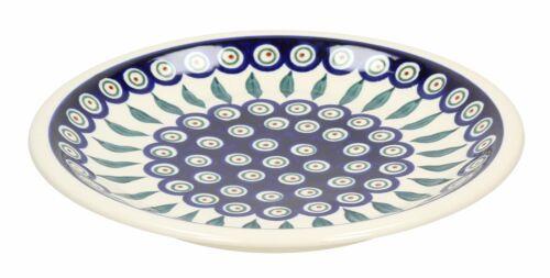 Bunzlauer Keramik TELLER 24,5 cm Speiseteller Essteller Flach mit Punkten Creme