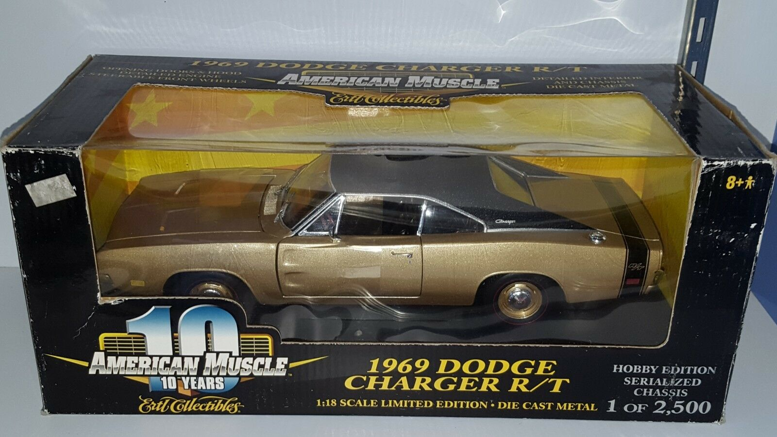 1 18 ERTL ERTL ERTL AMERICAN MUSCLE 1969 DODGE CHARGER R T YELLOW gd 2024c3