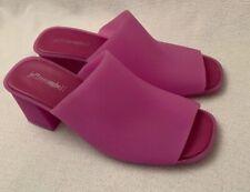 51eedd82d3c Jeffrey Campbell PVC Plastic Neon Orange Sandals Mule HEELS (8) for ...