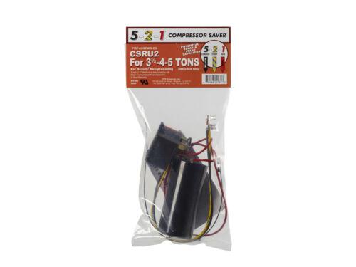 Potential Relay /& Capacitor 5-2-1 CSRU2 Compressor Saver 3-1//2-4-5 Tons
