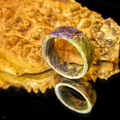 4718 Stabilized Maple Burl Hand Carved Turned Wood Ring  Handmade Jewelry Wooden Ring  Steel wood Ring