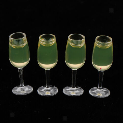 6 Pieces 1//12 Scale Wine Bottles Goblets Dollhouse Dining Table Accessories